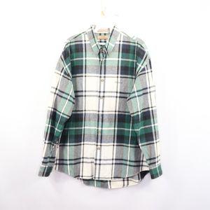 90s Guess Mens Medium Spell Out Plaid Shirt Green